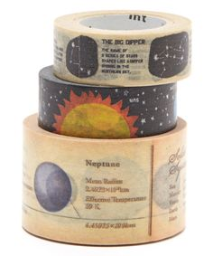 This three-piece Outer Space Washi Tape Set by MT is perfect! - Diy And Craft Washi Tape Storage, Washi Tape Crafts, Washi Tapes, Sand Crafts, Diy And Crafts, Cute Stationary, Stationary Store, Tapas, All You Need Is
