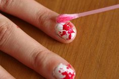 Fai da te Halloween Sangue Splatter Nails - BAGNO E BELLEZZA