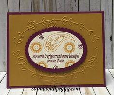 Paisleys & Posies stamp set, Pretty Paisleys embossing folder, Fall card, stampwithpeggy.com