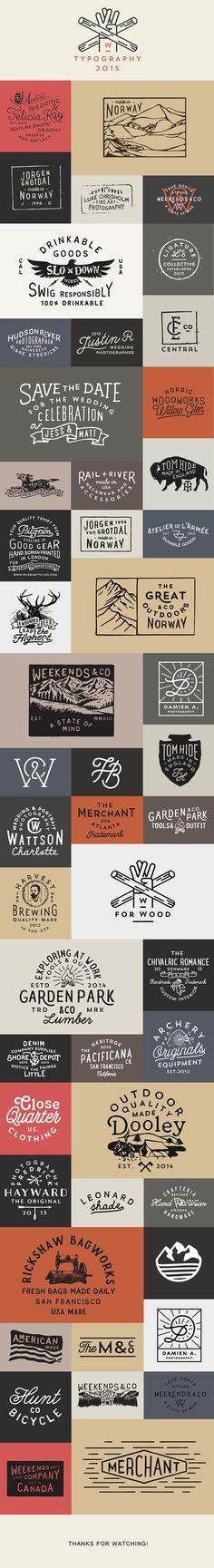 Logos & Typography 2015 on Behance