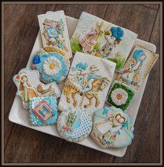 Holly Hobbie Royal Icing Cookies   By Kim-Sugar Rush Custom Cookies   http://www.facebook.com/Sugarrushcustomcookies   http://cookieconnection.juliausher.com/profile/328650445007823850?nc=1