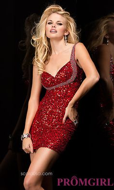 Sleeveless Sequin Cocktail Dress by Scala at PromGirl.com  SCALA-48358