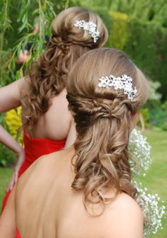 Magnificent 1000 Images About Pretty Bridesmaids Hairstyles On Pinterest Short Hairstyles Gunalazisus