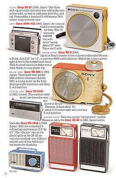 SONY vintage transistor radios book TR-52 TR-55 TR-5 TR-2K TR-33 TR-63 TR-86 TR8 7