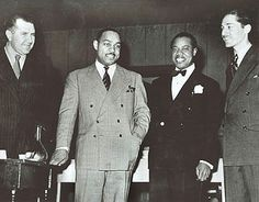File:Robert Goffin, Benny Carter, Louis Armstrong, Leonard Feather 1942.jpg