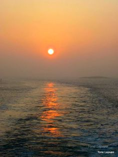 Sunsetview from the ferry between Stavnger and Skudeneshavn, Norway. Photo: Tone Lepsøe.