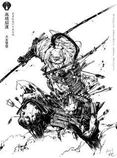 Piel Tutorial and Ideas Art Anime, Manga Art, Drawing Sketches, Cool Drawings, Ronin Samurai, Character Art, Character Design, Japon Illustration, Samurai Artwork