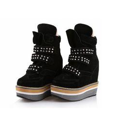 (120.95$)  Know more  - Rhinestone Thick Bottom Platform High heels Top Women Shoes Woman Zapatos Mujer Tenis Feminino Height Increasing Casual Ladies