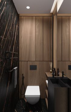 DEDE/Brutal minimalism on Behance Washroom Design, Bathroom Design Luxury, Modern Bathroom Decor, Bathroom Design Small, Luxury Homes Interior, Interior Architecture, Small Toilet Design, Unusual Bathrooms, Toilette Design
