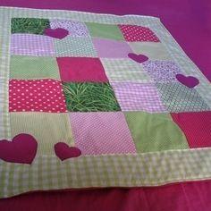 Couverture plaid bébé - fuchsia / vert