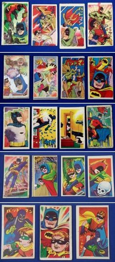 1960's BATMAN Japanese Menko Cards vintage toy japan