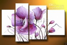 New Modern Abstract Huge Wall Art Oil Painting on Canvas Flowers No Frame 3 Piece Canvas Art, Modern Canvas Art, Canvas Wall Art, Modern Art, Oil Painting Flowers, Oil Painting Abstract, Abstract Canvas, Oil Paintings, Watercolor Art