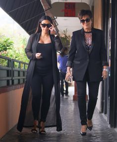 Kim Kardashian Goes out to Lunch with Mom Kris Jenner