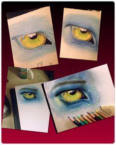 Avatar eye process by T Saldana