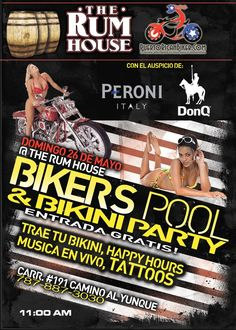 Bikers Pool & Bikini Party @ The Rum House, Río Grande