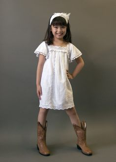 "without the littie pom poms? Linen and rustic lace flower girl or communion dress, antique style ""Marfa"" with pom pom trim."
