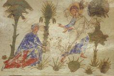 Magdalena ( noli me tangere) Montecasino exultet roll c.1075-1080  Add.30337