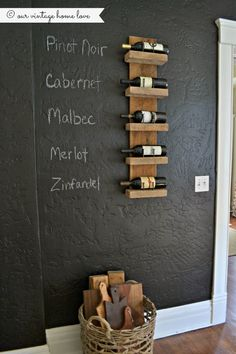 I've wanted to do a chalkboard wall in our home forever but as you will see from the photos, our walls are very heavily textured and I didn'...