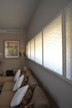 DAR ARAFA Interior (2008-2009)  Long southern window at high noon and fabric screens.  Designed by Architect Waleed Arafa  of Dar Arafa Architecture in collaboration with Interior Designer Nisreen Moustafa of Nuun Interiors.
