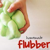 Flubber recipe. I just made flubber for the first time for my 7-year-old daughter and her friend. What a hit! It is very simple to make, and very very cool. It has just one ingredient that you're unlikely to have on hand: borax, which is an old-fashioned laundry booster that you can find in the laundry aisle.  Read more: http://www.livecrafteat.com/craft/homemade-flubber-for-kids/#ixzz2dZHzRvWG