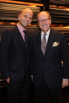 Mariano and Luca Rubinacci at the opening of the new Rubinacci stori in Milan.
