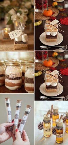 Fall wedding favors for autumn wedding ideas. | Boho Weddings via #PureFiji Natural Beauty Products