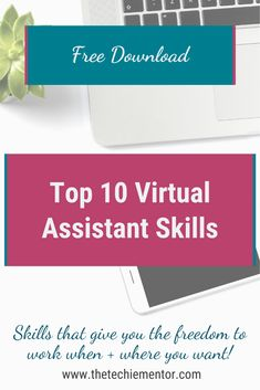 Are you ready to up-level your services so you can earn more money and work less? When you learn the top skills clients want and need you can start charging more and work less. Grab my free guide where I go over the top 10 skills clients want and need. For more tips on virtual assistant services and skills follow me @thetechiementor. Virtual Assistant Services, Data Processing, Earn More Money, Free Ebooks, Finding Yourself, Success, Learning, Tips, Studying