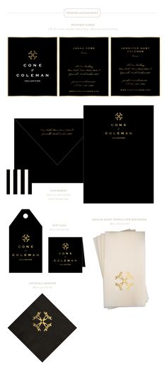 Branding Design for Cone + Coleman |  www.EmilyMcCarthy.com | Luxury Branding, Logo, Retail Branding Design, Luxury Printing and Packaging