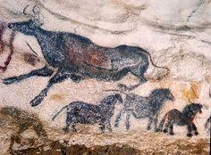 "Cro-Magnon Paintings B.) Lascaux Cave, Montignac, France, ""the Versailles of Prehistory"" Cave Paintings France, Lascaux Cave Paintings, Art Pariétal, Paleolithic Art, Cave Drawings, Art Ancien, Art Premier, Human Art, Aboriginal Art"