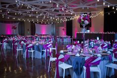 Pink and Grey wedding colors!