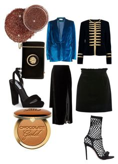 """""""Velvet"""" by crissmiss on Polyvore featuring Banana Republic, self-portrait, Boohoo, Topshop, Steve Madden, Marco de Vincenzo, Versus and Too Faced Cosmetics"""