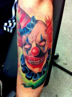 More Tattoo Images Under: Clown Tattoos Evil Clown Tattoos, Fake Tattoos, Cool Tattoos, Maori Tattoos, Awesome Tattoos, Jester Tattoo, Evil Clowns, Scary Clowns, Joker Face Tattoo