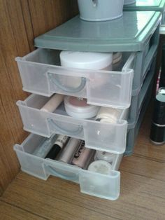 What i use to store my most used make up this is not all of my make up