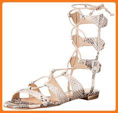 Schutz Women's Erlina Gladiator Sandal, Natural, 8 M US