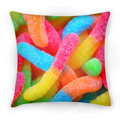 This pillow is so colourful and neon I want it. Oh, and I also like sour stuff! XD