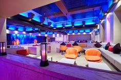 The Maya Lounge offers elegant ambiance, with bright lounges and exotic lighting. A casual evening atmosphere transforms into a nightclub full of energy.