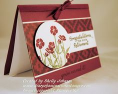 Diary of a Minnesota Stamper Wild About Flowers stamp set by Stampin'Up! Retirement card