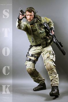 Combat Soldier STOCK V by PhelanDavion.deviantart.com on @DeviantArt