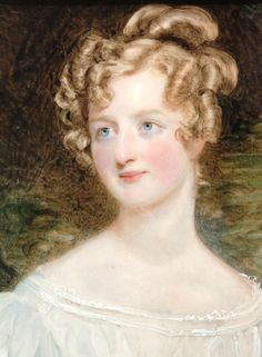 Signed and dated 1826. Lady de Hochepied Larpent by Sir William Charles Ross.