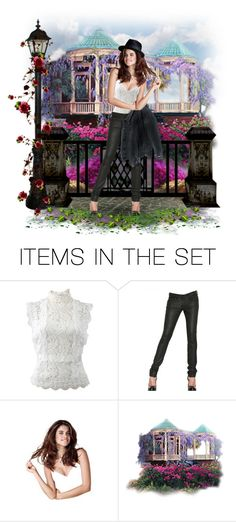 """""""Leather and lace! - Contest!"""" by asia-12 ❤ liked on Polyvore featuring art"""