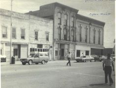 Opera House block in Edmore - ca. 1960s-76 (Edmore Pine Forest Historical Museum) #Edmore http://on.fb.me/1hc06Bu