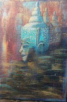 Bouddha. acrylique