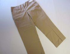 New York Company Pants 4 Capri Crop Khaki Stretch Straight Womens NEW #NewYorkCompany #CaprisCropped