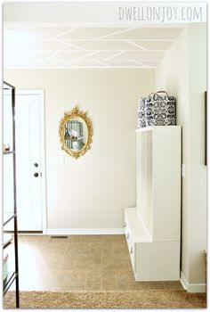 Dwell on Joy: The Pretty Foyer Ceiling: FrogTape® Textured Surface™