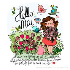 Mathou fait son Crayon d'Humeur Hello Mai, Box Couture, Chillout Zone, Image Club, Sign O' The Times, 1. Mai, Hello Weekend, Bullet Journal Inspiration, Illustrations