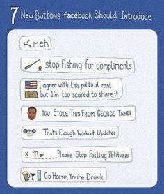 New Facebook buttons. WE NEED THEM ALL.