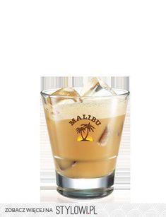 Coffee Malibu - Do szklanki dodaj Malibu, likier kawowy… Pint Glass, Alcoholic Drinks, Coffee, Tableware, Recipes, Fit, Kaffee, Dinnerware, Shape
