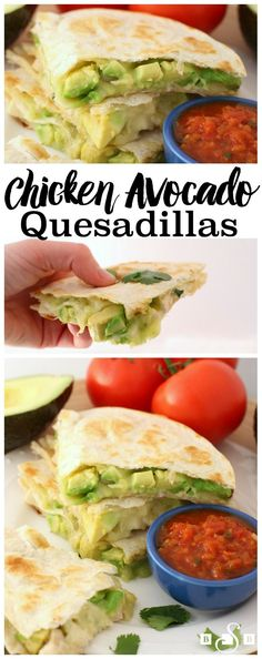 Chicken Avocado Quesadillas - Butter With A Side of Bread- AD #deliciousgametime #partyfood