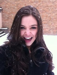 Danielle Campbell in the snow