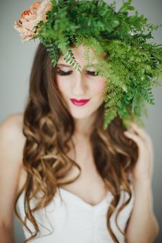 Greenery Floral Crown Flower Crown Greenery by WeddingsByTrinity Floral Crown, Crown Flower, Flower Headpiece, Greenery, Long Hair Styles, Trending Outfits, Unique Jewelry, Flowers, Wedding